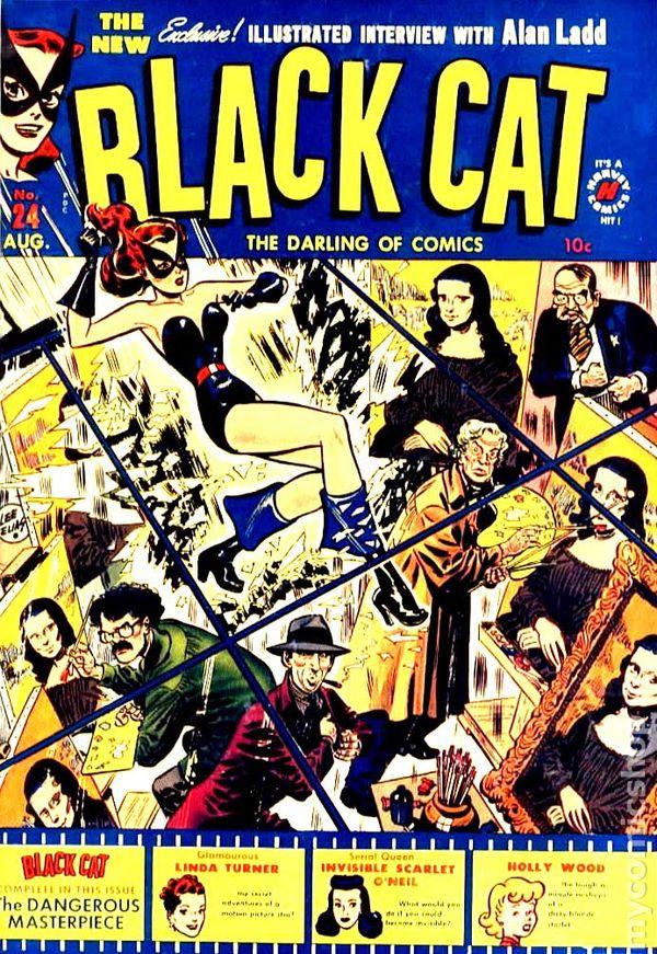 black cat comics  1946 harvey  comic books