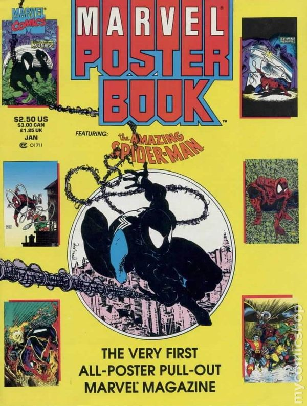 marvel poster book 1991 comic books. Black Bedroom Furniture Sets. Home Design Ideas
