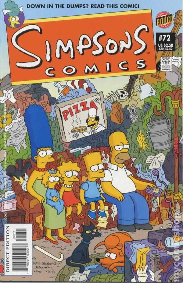 ~~~/> Simpsons Comics #98 Olmec Indian Head