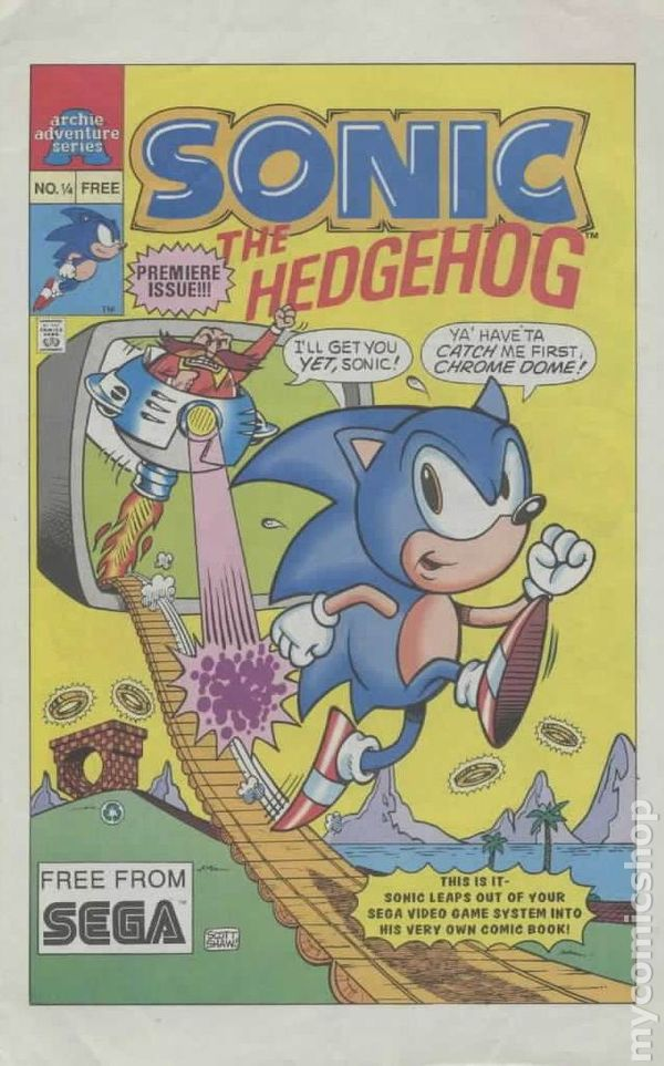 Sonic The Hedgehog 1992 1 4 Comic Books