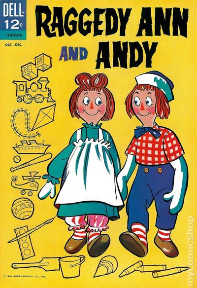 Raggedy Ann and Andy 1964 Dell 2nd Series comic books