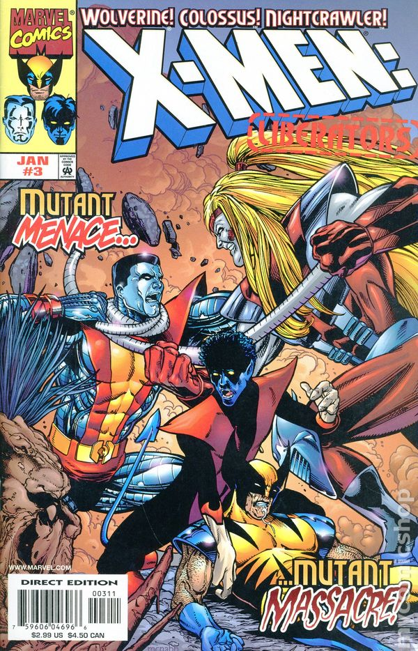 X-MEN LIBERATORS #1-4 NEAR MINT COMPLETE SET 1998