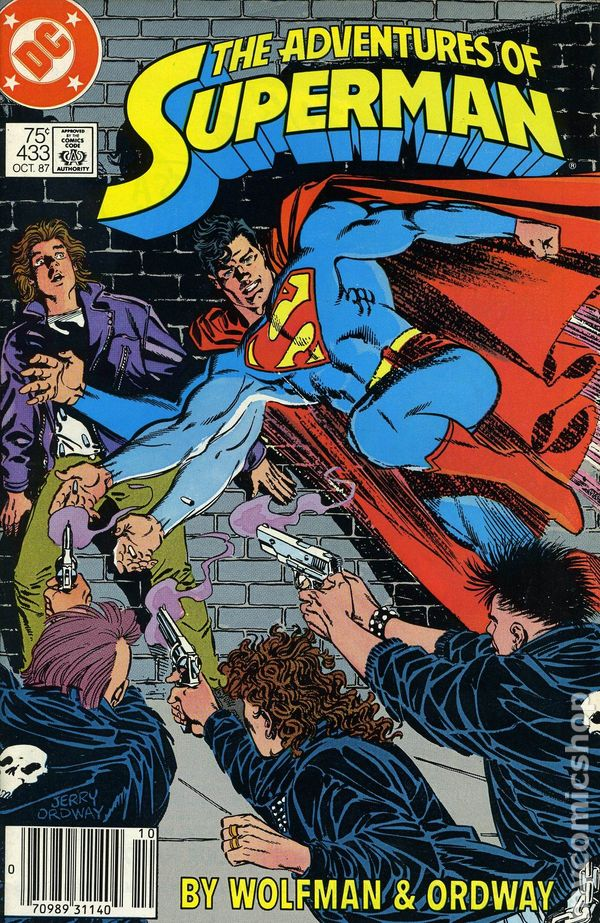 9.0 DC ADVENTURES OF SUPERMAN #436 HIGH GRADE