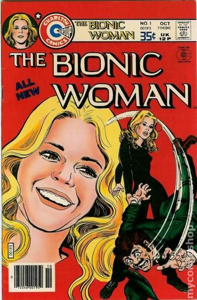 bionic woman  1977 charlton  comic books