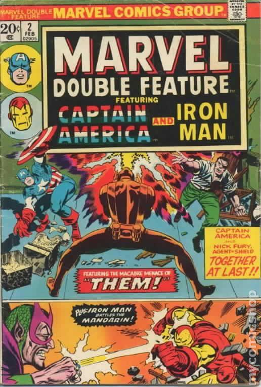 MARVEL DOUBLE FEATURE #3 APRIL 1974 CAPTAIN AMERICA /& IRON-MAN FN