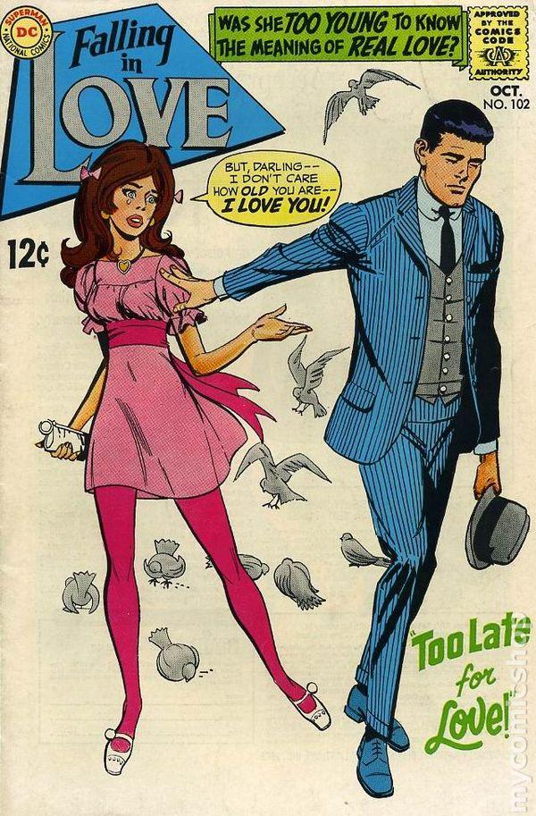falling in love  1955  comic books 1956
