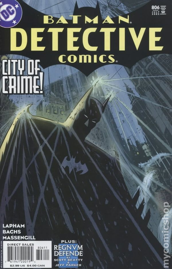 Detective Comics 1937 1st Series 806