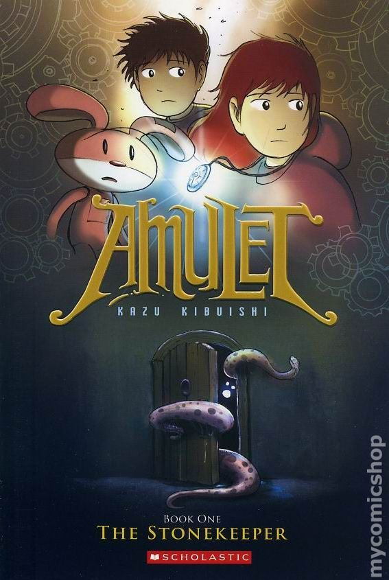 Graphic Novel Book Cover ~ Amulet gn scholastic press comic books
