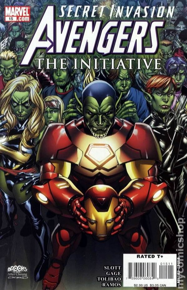 2007 THE INITIATIVE #17 VF//NM SECRET INVASION TIE-IN AVENGERS
