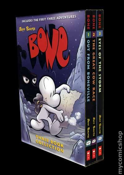 Bone TPB Three Book Collection 2008 Cartoon Books Slipcase Boxed