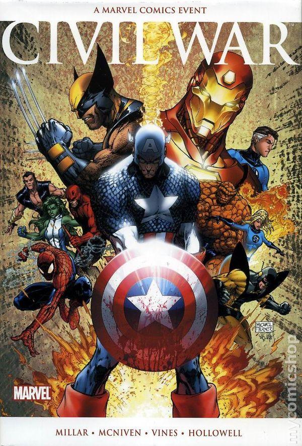 CIVIL WAR HARDCOVER Marvel Comics MOVIE VARIANT COVER Mark Millar /& McNiven HC