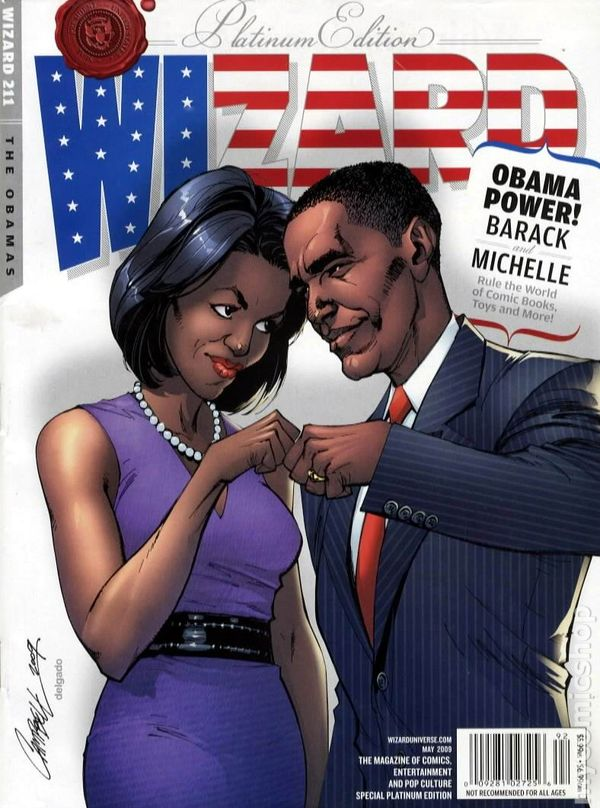 Comic books in other obama comics wizard magazine platinum 2008 211c sciox Image collections
