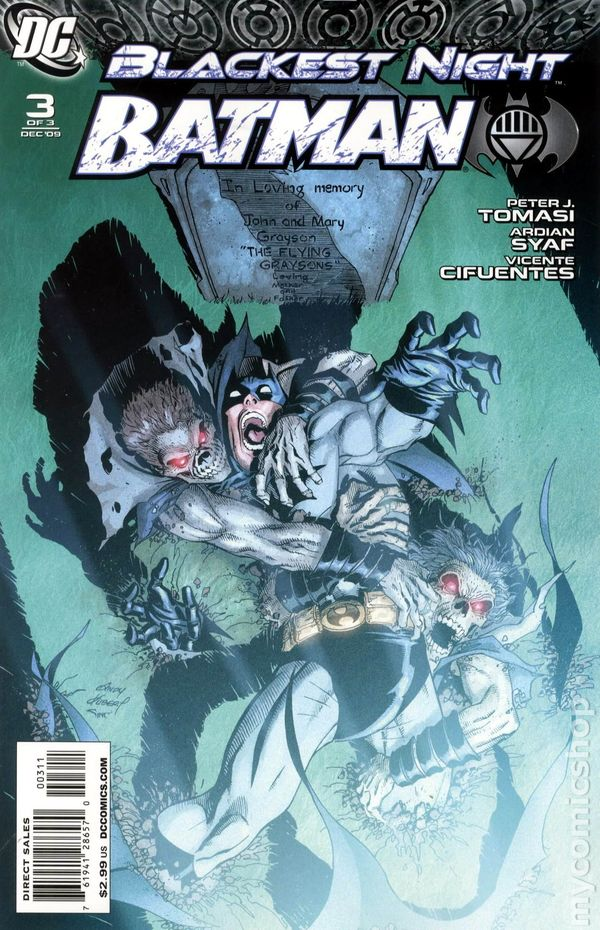 Blackest Night Batman 2009 3A Comic Book