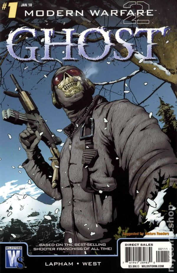 Modern Warfare 2 Ghost (2009 DC) comic books