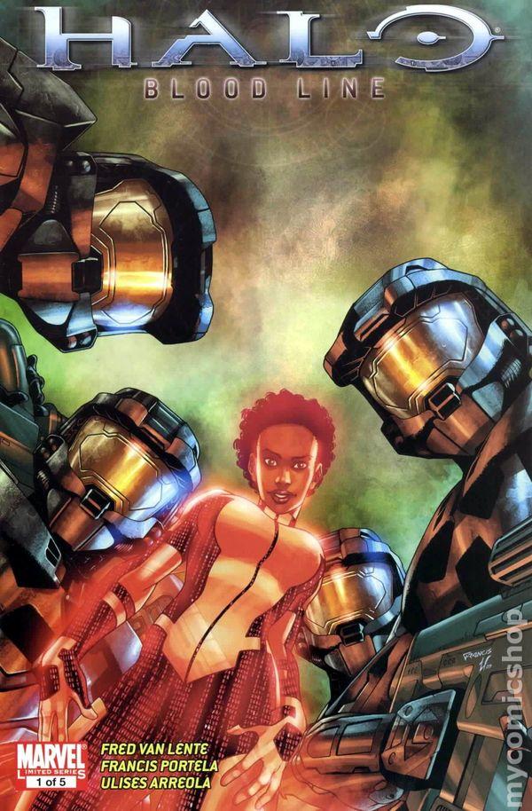 halo blood line  2009 marvel  comic books