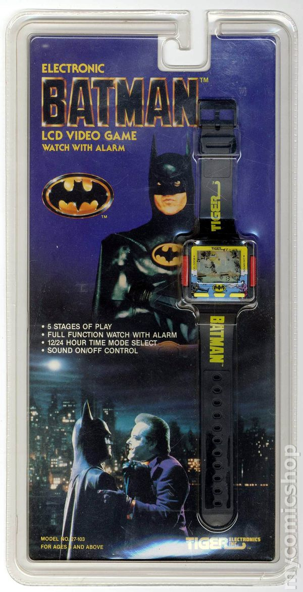 Video Game Girl Stock Image Image Of Latina Isolated: Batman Electronic Video Game Watch With Alarm (1989) Comic