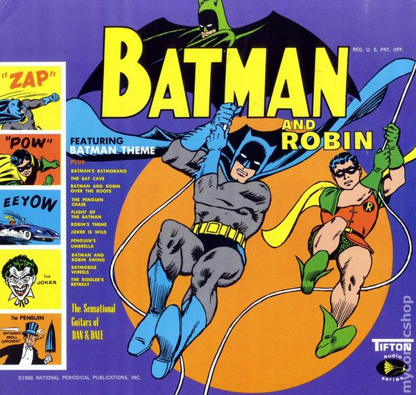 Batman And Robin Record Album 1966 Tifton Comic Books