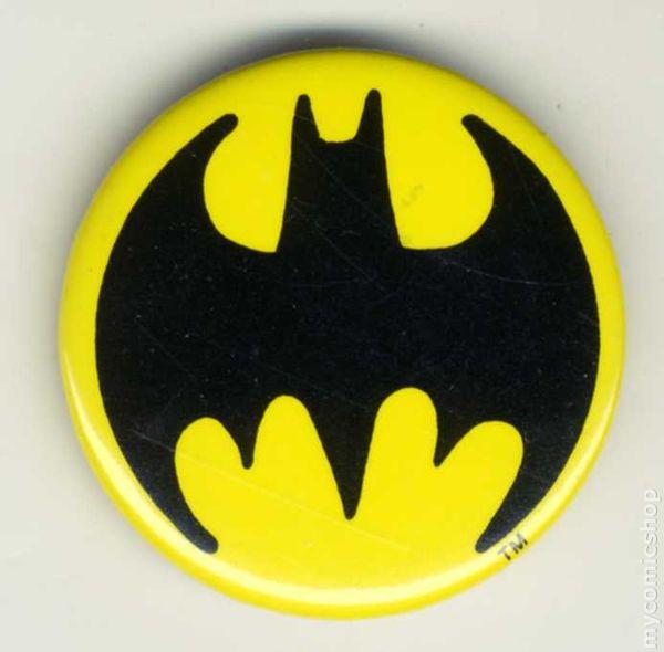 Batman Logo Button (1989) comic books