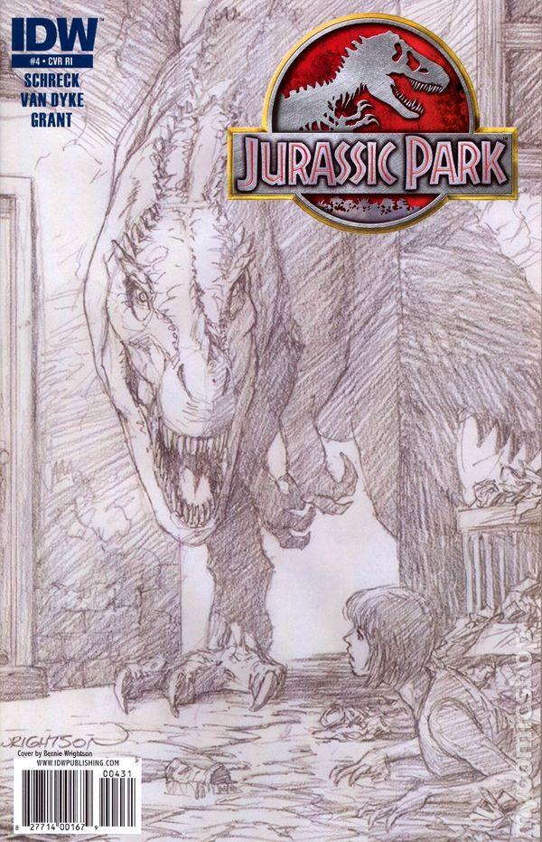 jurassic park 2010 idw comic books