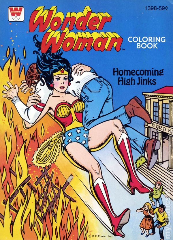 Wonder Woman Coloring Book Sc 1970-1980 Whitman Comic Books-9921