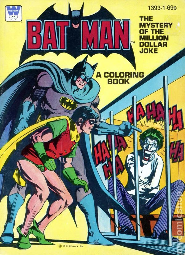 batman the mystery of the million dollar joke sc 1980 a whitman coloring book comic books 1980 - Batman Coloring Books