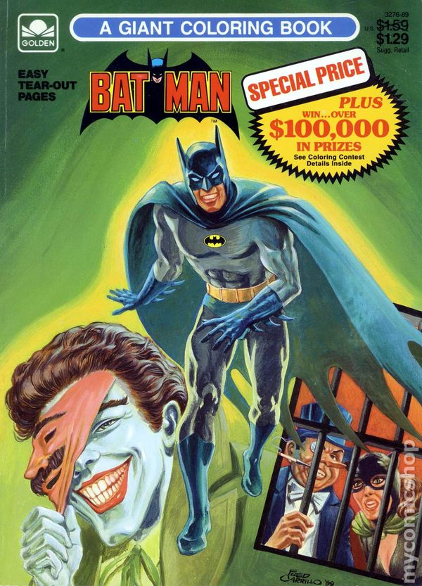 Batman A Giant Coloring Book Sc 1989 Golden Comic Books