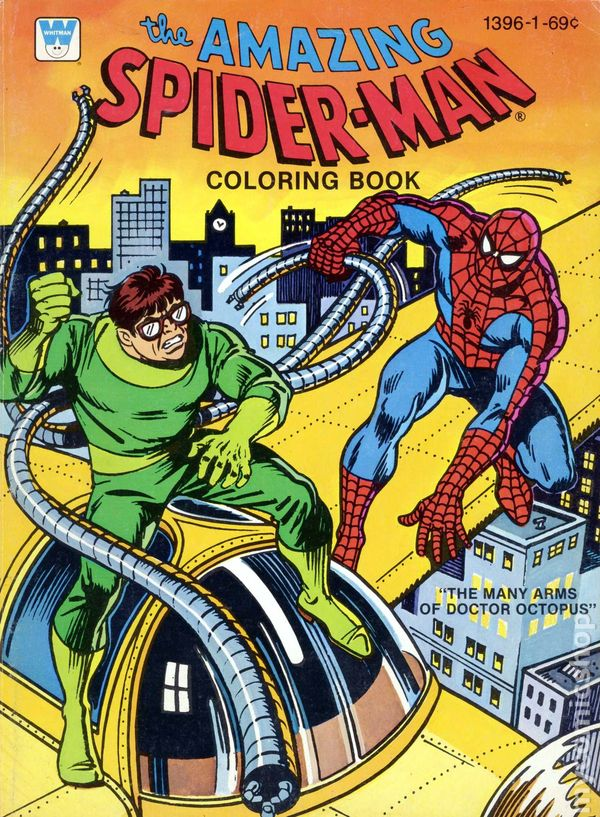 Amazing Spider-Man Coloring Book SC (1970-1980 Whitman) comic books