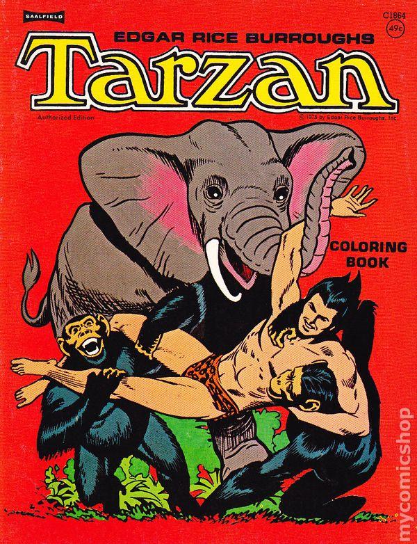 Tarzan Coloring Book Saalfield Comic Books