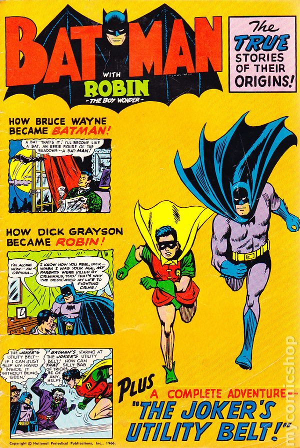 Batman With Robin the Boy Wonder (1966) Golden Record comic