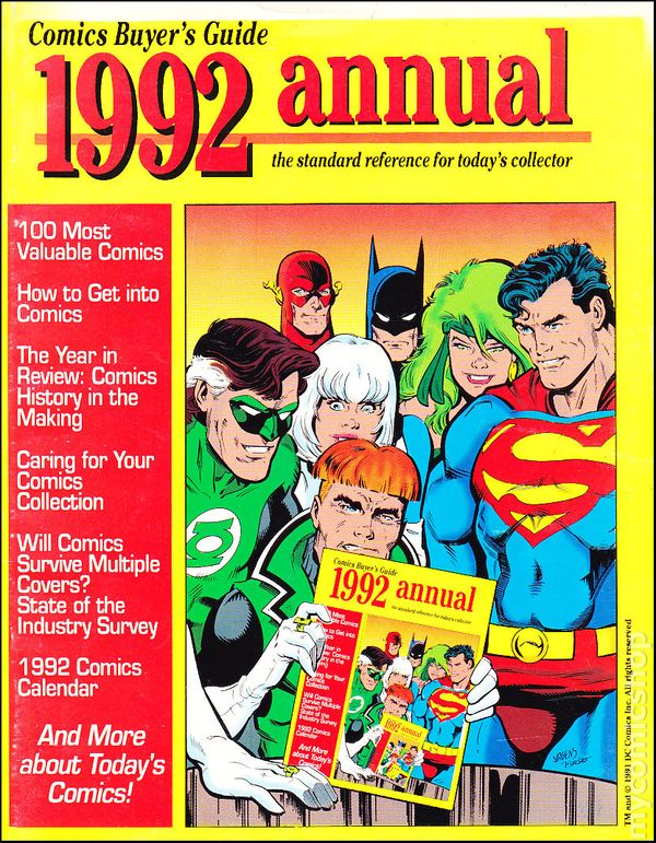 Comics Buyer's Guide 1992 Annual comic books