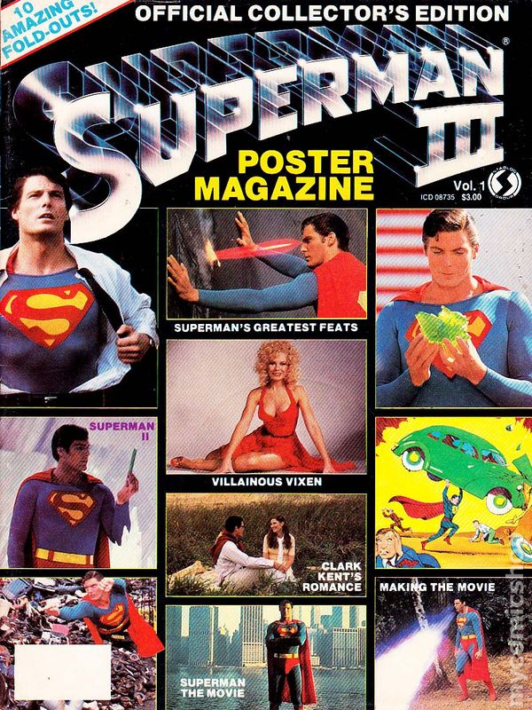Official Superman III Poster Magazine (Starlog) comic books | 600 x 800 jpeg 163kB