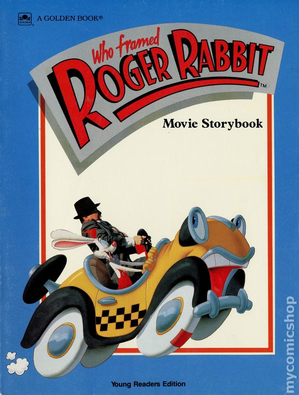 who framed roger rabbit movie storybook young read comic books