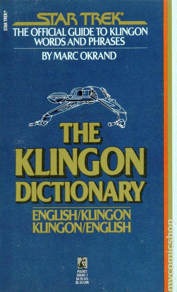The klingon dictionary: english/klingon, klingon/english (star.