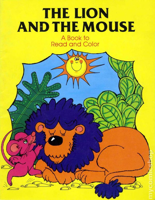 Lion and the Mouse Coloring Book SC 1985 comic books