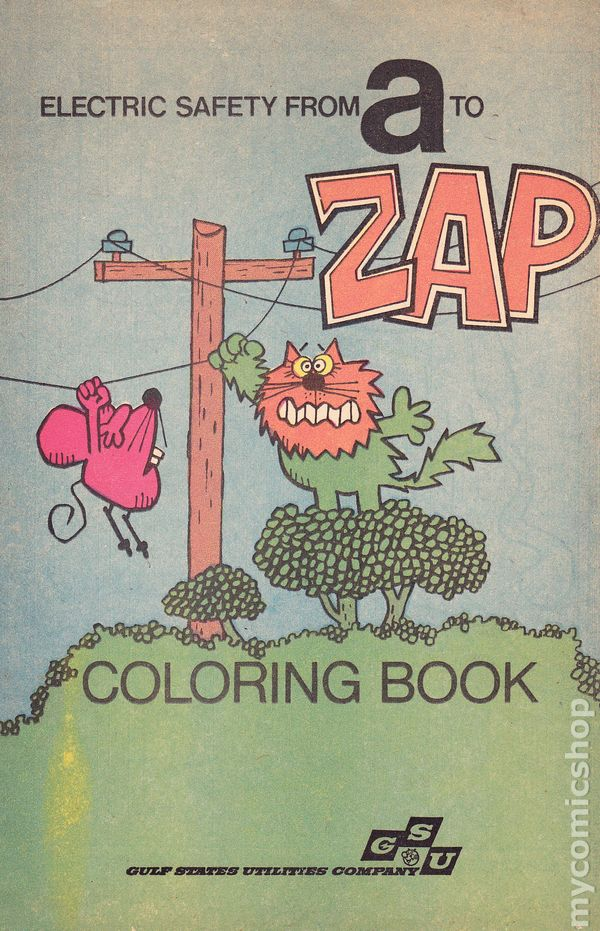 Electric Safety From A To Zap Coloring Book (1975) comic books