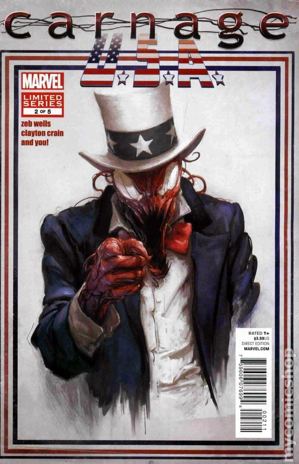 carnage usa 2011 marvel comic books