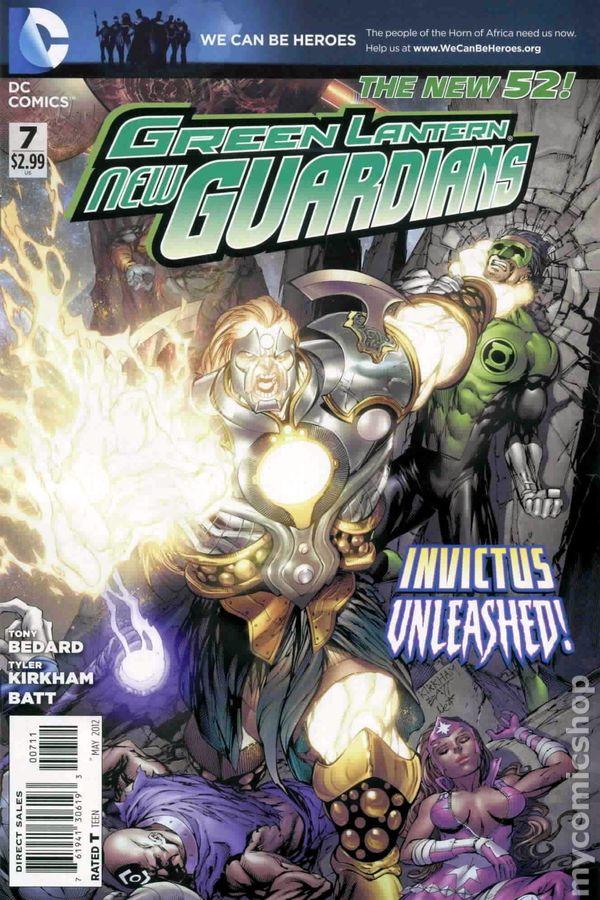 GREEN LANTERN NEW GUARDIANS #7 1:25 VARIANT COVER DC 2012 1st Print