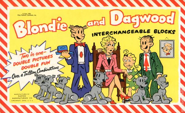 Blondie and Dagwood Interchangeable Blocks (1951) comic books