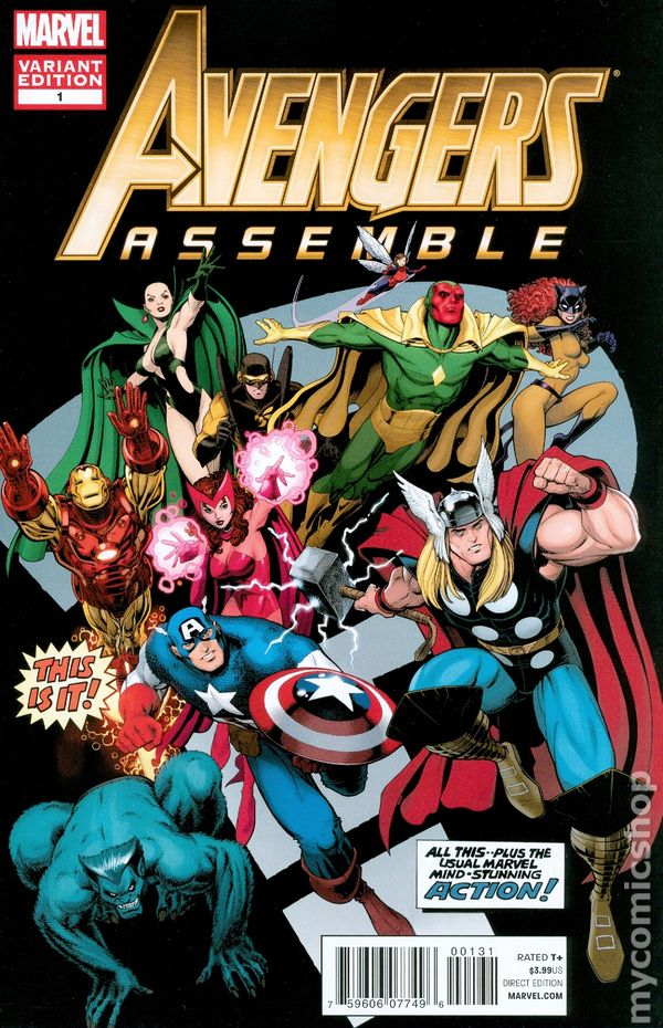 avengers assemble 2012 comic books