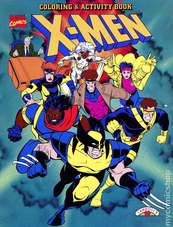 X men coloring and activity book sc 1996 landolls comic books
