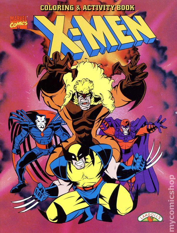 X-Men Coloring and Activity Book SC (1996 Landoll\'s) comic books