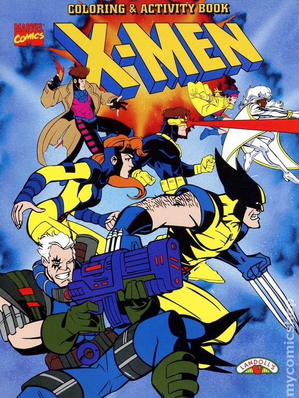 X-Men Coloring and Activity Book SC (1996 Landoll\'s) comic books