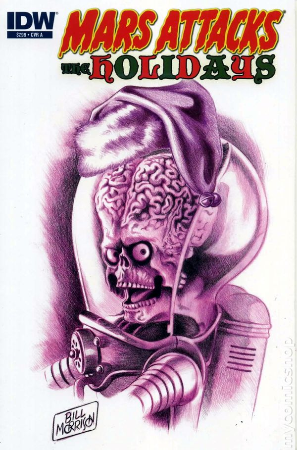 Mars Attacks Holidays 2012 IDW 0A Comic