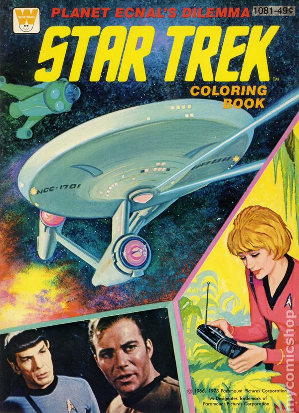 star trek planet ecnals dilemma coloring book sc 1966 whitman edition 1 rep - Star Trek Coloring Book