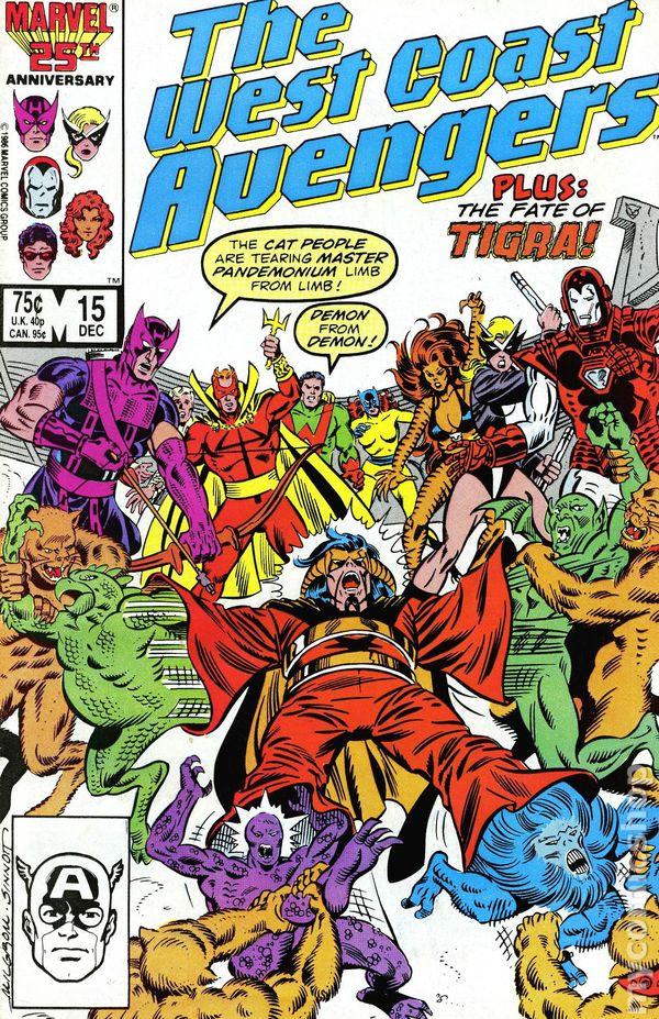 Marvel Tigra Son Avengers West Coast (1...