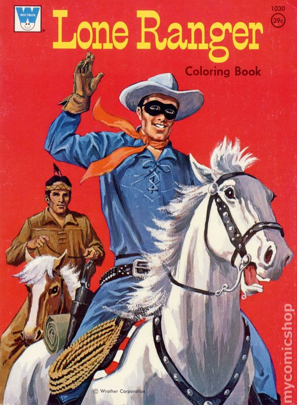 Lone Ranger Coloring Book Sc 1951 1975 Whitman Comic Books