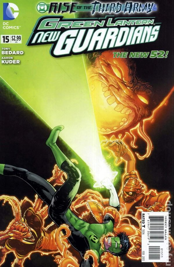 Green Lanterns #15A Kirkham Variant NM 2017 Stock Image