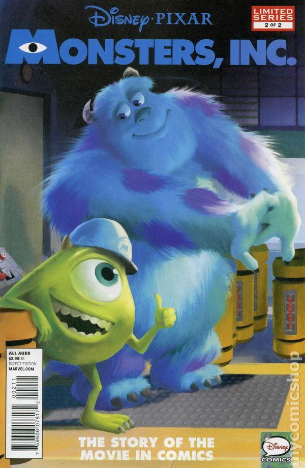 Monsters Inc 2012 Movie Adaptation Comic Books