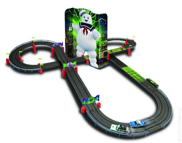 Auto World  Ghostbusters - Haunted Highway Electric Racing Slot Car Set  (2013) SET f150072c26e3
