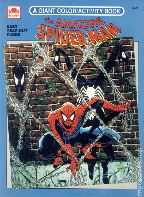 Amazing Spider Man A Giant Color Activity Book SC 1992 Golden 1